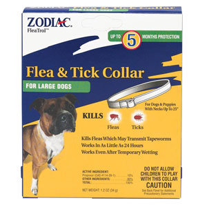 5 Month Zodiac Flea/Tick Large Dog Collar at NJPetSupply.com