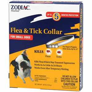 5 Month Zodiac Flea/Tick Small Dog Collar at NJPetSupply.com