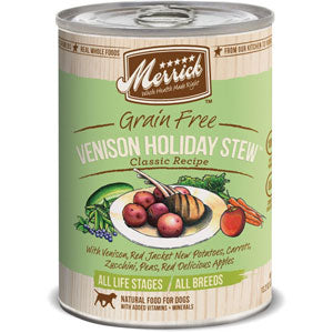 Merrick Venison Holiday Stew Canned Wet Dog Food at NJPetSupply.com