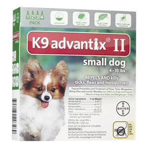 K9 Advantix for Dogs 1-10 lb. (4 doses) at NJPetSupply.com