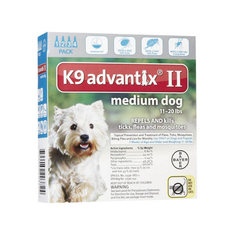 K9 Advantix for Dogs 11-20 lbs (4 doses)