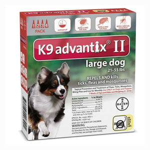 K9 Advantix for Dogs 21-55 lbs. (4 doses)
