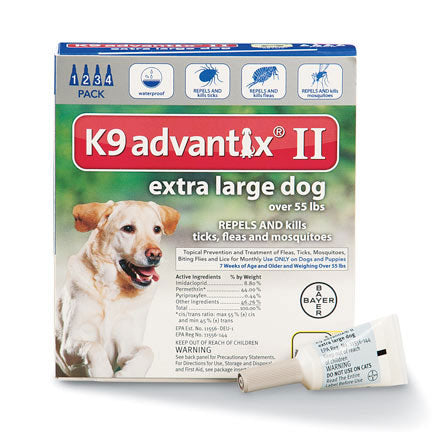 K9 Advantix for Dogs over 55 lbs. (4 doses)