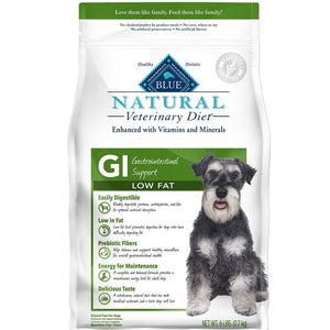 BLUE Natural Veterinary Diet GI Low Fat Gastrointestinal Support Dry Dog Food