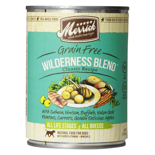 Merrick Wilderness Blend Canned Wet Dog Food at NJPetSupply.com