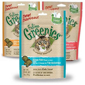 Feline Greenies, Beef Flavor Cat Treats 3-oz at NJPetSupply.com