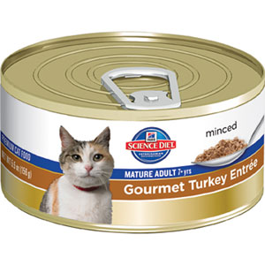 Science Diet Mature Adult Active Longevity Gourmet Turkey Entree Minced Canned Cat Food
