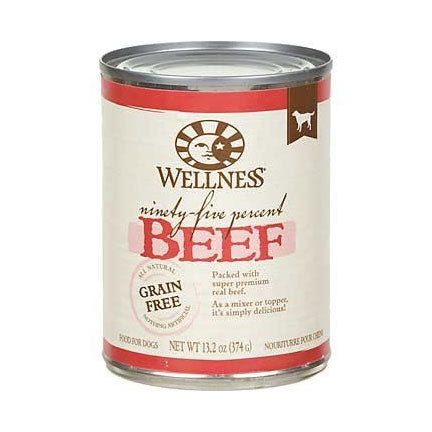 Wellness 95% Beef Canned Wet Dog Food at NJPetSupply.com