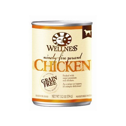 Wellness 95% Chicken Canned Wet Dog Food at NJPetSupply.com