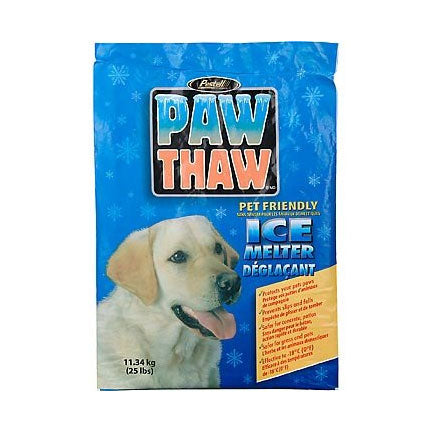 25 Pound Bag of Pestell Paw Thaw Ice Melter for Snow and Ice at NJPetSupply.com
