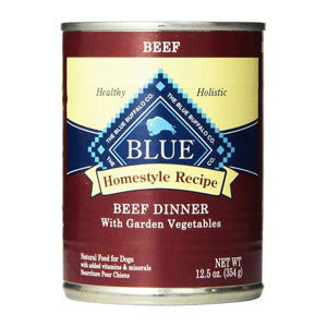 Blue Buffalo Homestyle Recipe Beef Dinner with Garden Vegetables Canned Wet Dog Food at NJPetSupply.com