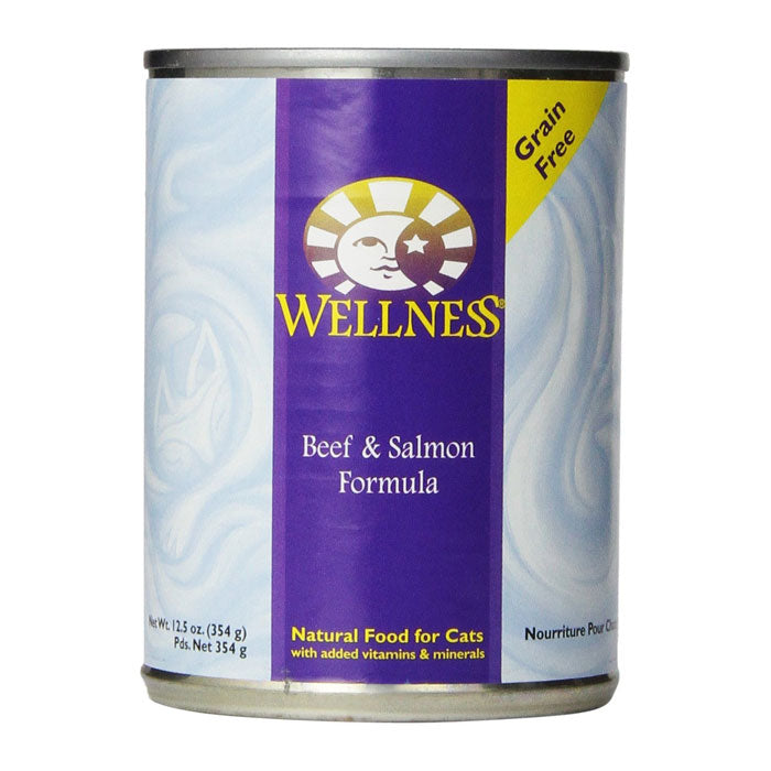 Wellness Beef & Salmon Canned Wet Cat Food at NJPetSupply.com
