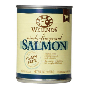 Wellness 95% Salmon Canned Dog Food