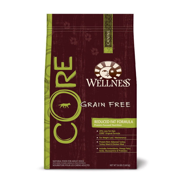 Wellness Core Reduced Fat (Grain Free) Dry Dog Food