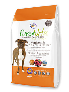 Nutrisource Pure Vita Venison & Red Lentils Grain Free Entree Dry Dog Food at NJPetSupply.com