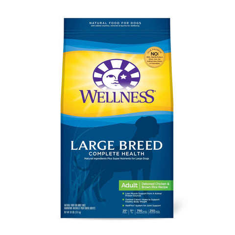 Wellness Large Breed Complete Health Deboned Chicken and Brown Rice Adult Dry Dog Food