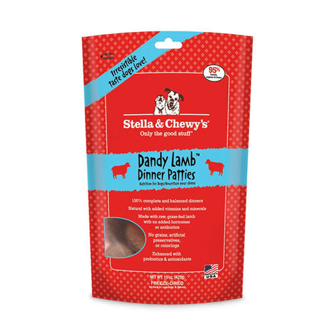 Stella & Chewy's Dandy Lamb Freeze Dried Dog Food 15-ounce Package at NJPetSupply.com