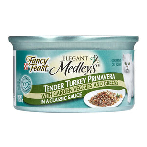 Fancy Feast Elegant Medleys Tender Turkey Primavera with Garden Veggies Canned Cat - NJ Pet Supply