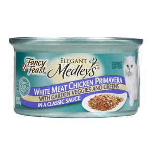 Fancy Feast Elegant Medleys White Meat Chicken Primavera in Sauce Canned Wet Cat Food at NJPetSupply.com