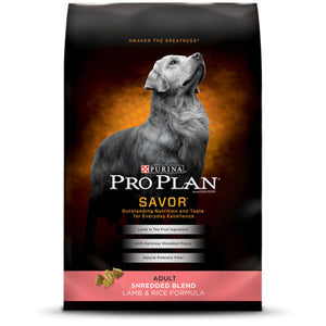 Pro Plan Adult Savor Shredded Lamb & Rice Dry Dog Food