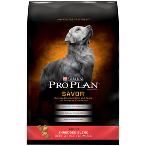 Pro Plan Adult Savor Shredded Beef & Rice Dry Dog Food