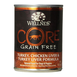 Wellness Core Turkey, Chicken Liver & Turkey Liver Canned Dog Food