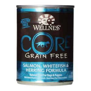 Wellness Core Salmon, Whitefish & Herring Canned Wet Dog Food at NJPetSupply.com