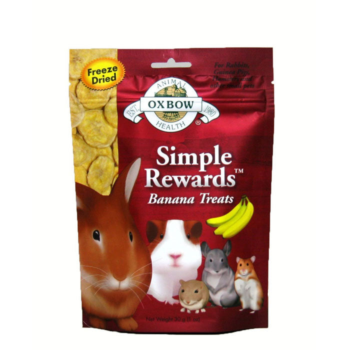 Oxbow Simple Rewards Banana Small Animal Treats at NJPetSupply.com