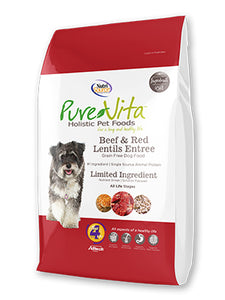 Nutrisource Pure Vita Beef & Red Lentils Grain Free Entree Dry Dog Food at NJPetSupply.com