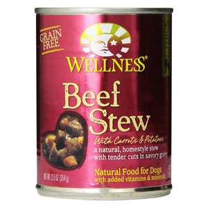 Wellness Beef Stew with Carrots & Potatoes Canned Wet Dog Food at NJPetSupply.com