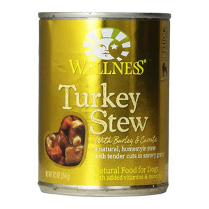 Wellness Turkey Stew with Barley & Carrots Canned Wet Dog Food at NJPetSupply.com