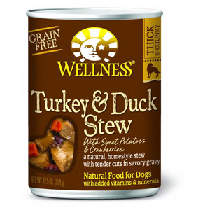 Wellness Turkey & Duck Stew with Sweet Potatoes & Cranberries Canned Wet Dog Food at NJPetSupply.com