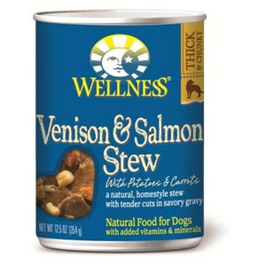 Wellness Venison & Salmon Stew with Potatoes & Carrots Canned Wet Dog Food at NJPetSupply.com