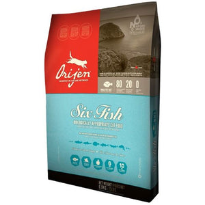 Orijen Six Fish Dry Cat Food 4 Pound Bag at NJPetSupply.com