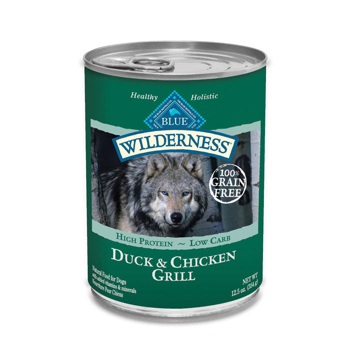 Blue Buffalo Wilderness Duck & Chicken Grill Canned Dog Food - NJ Pet Supply