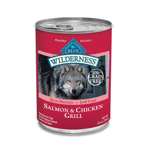 Blue Buffalo Wilderness Salmon & Chicken Grill Canned Wet Dog Food at NJPetSupply.com