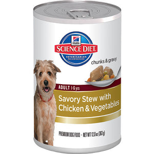 Science Diet Adult Savory Stew with Chicken & Vegetables Canned Dog Food