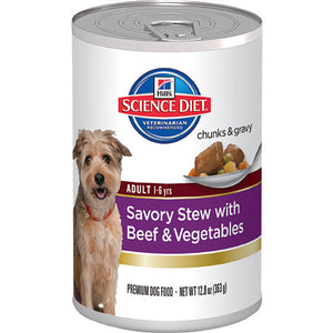 Science Diet Adult Savory Stew with Beef & Vegetables Canned Dog Food