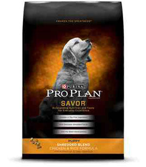 Pro Plan Savor Puppy Shredded Chicken Dry Dog Food 18 Pound Bag at NJPetSupply.com