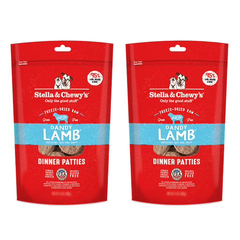 Stella & Chewy's Lamb Dinner 25oz Freeze Dried Twin Pack