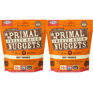 Primal Nuggets Canine Beef Formula Freeze-Dried Dog Food 2 Pack