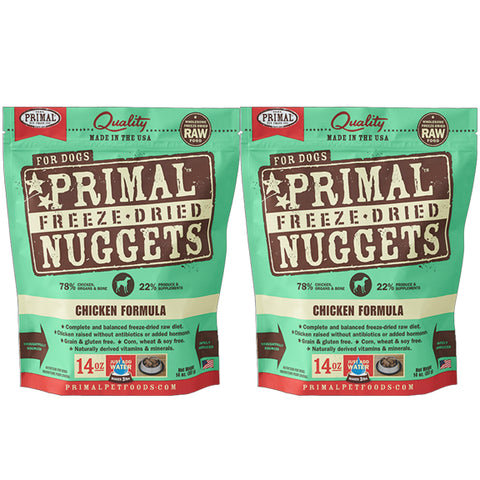 Primal Nuggets Canine Chicken Freeze-Dried Dog Food 2 Pack