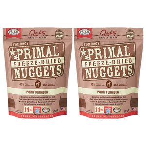 Primal Nuggets Canine Pork Freeze-Dried Dog Food 2 Pack