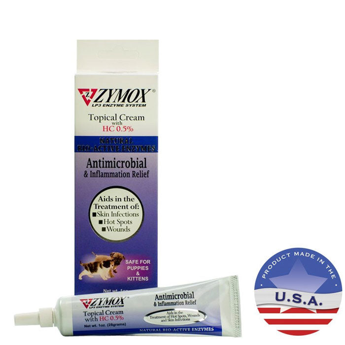ZYMOX Topical Cream for Hot Spots & Skin Infections