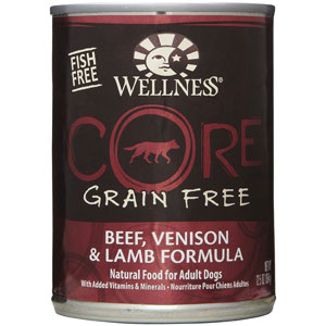 Wellness Core Beef, Venison & Lamb Canned Wet Dog Food at NJPetSupply.com