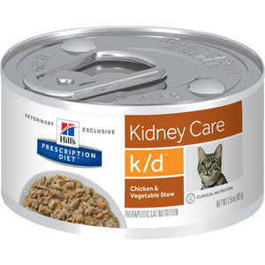Hill's Prescription Diet k/d Feline Chicken & Vegetable Stew 3393 2.9-oz at NJPetSupply.com