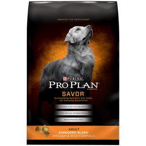 Pro Plan Adult Savor Shredded Chicken & Rice Dry Dog Food 6 Pound Bag at NJPetSupply.com