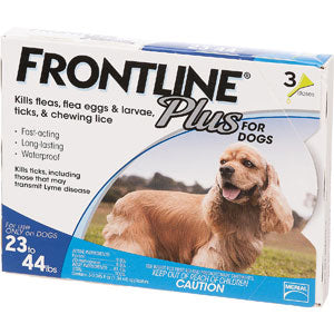Frontline Dog Plus 23-44 lb, 3 Month Supply at NJPetSupply.com