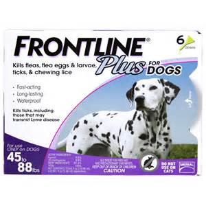 Frontline Dog Plus 45-88 lb, 3 Month Supply at NJPetSupply.com