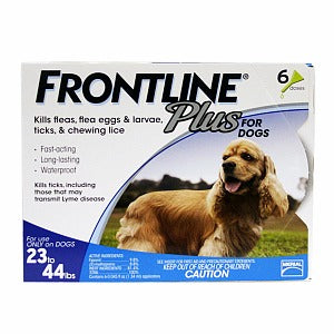 Frontline Dog Plus 23-44 lb, 6 Month Supply at NJPetSupply.com